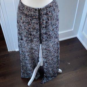 Spotted Split Maxi Skirt